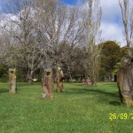 Centenial Park Stone Sculptures represent the Four Peaks of Macedon Ranges and the Spirit of Life after Ash Wednesday Bushfires