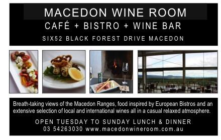 Macedon Wine Room postcard ad